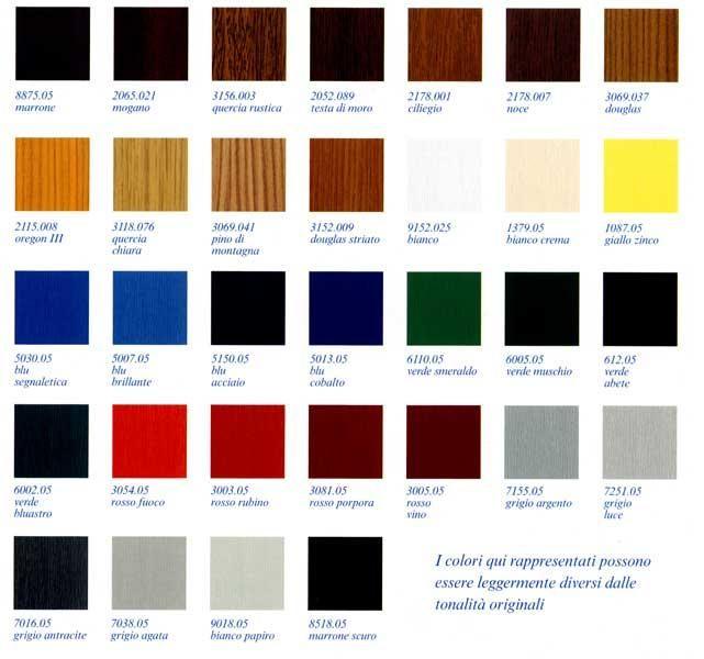 Serramenti in pvc e le variazione di colori disponibili for Colori finestre pvc