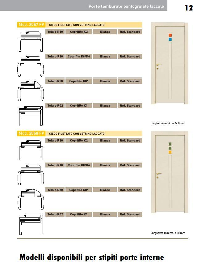 Porte interne laccate pantografate   INFIX