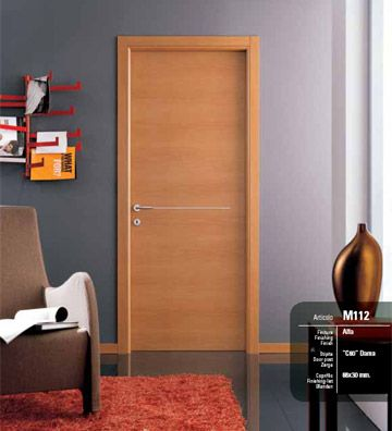 Porta da interni laminatino noce chiaro alfa infix - Porte noce chiaro ...