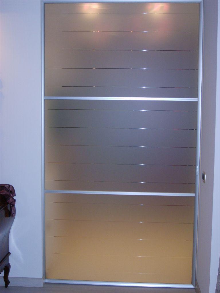 Porta scorrevole in cristallo per casa infix - Porta scorrevole alluminio ...