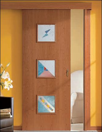 Porta interna scorrevole il legno ciliegio v3 infix - Porta scorrevole interna ...