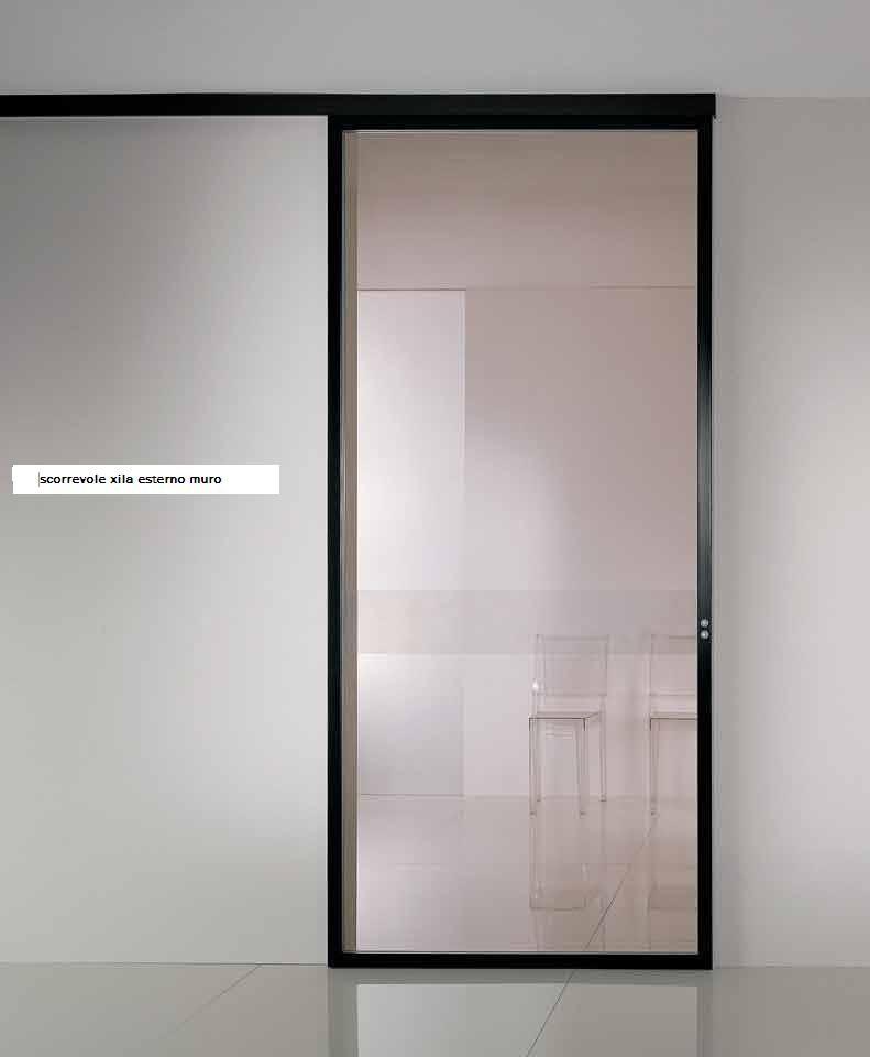 Beautiful porta scorrevole vetro esterno muro images - Porta scorrevole vetro ...