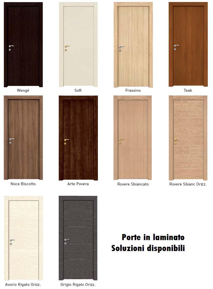 Porte interne in laminato con cornice complanare infix - Porte laccate o laminate ...