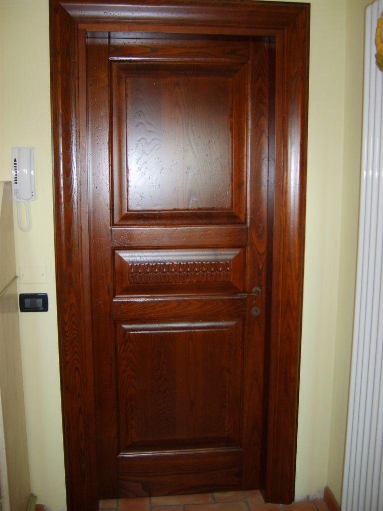 Porta interna in legno castagno modello botticelli infix - Telaio porta interna ...