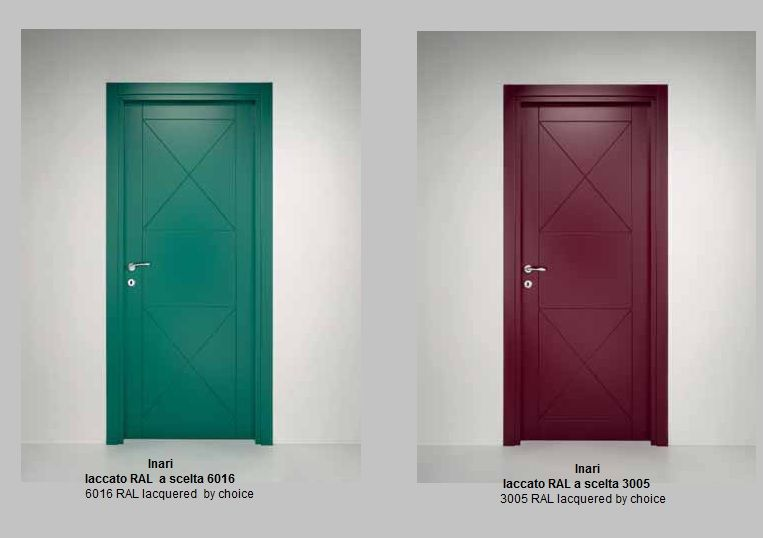 Porte interne laccate pantografate infix - Porte interne colorate ...