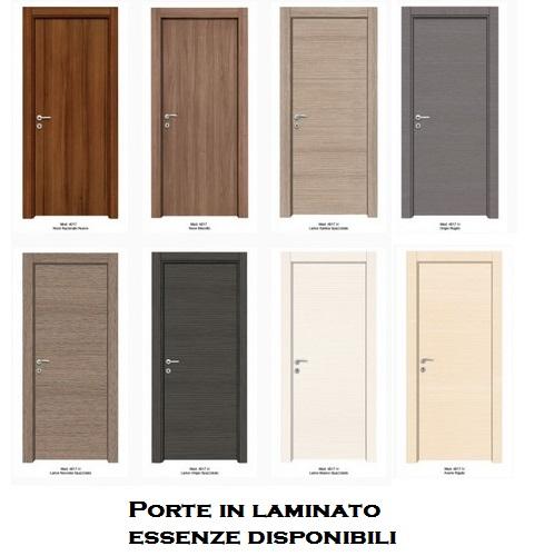 Porte interne in laminato con cornice complanare infix - Verniciare porte interne laminato ...