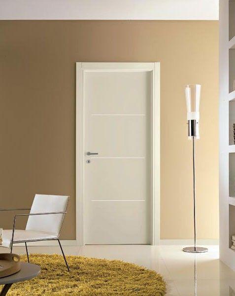 Porte interne laminato bianco con inserto M114 Omega | INFIX