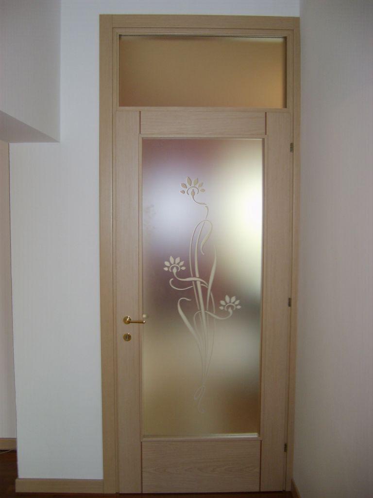 Porte Con Vetro Satinato porta interna in legno silver imago 43/i | infix