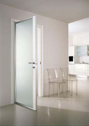 Porta interna in alluminio e vetro in cristallo temperato - Porta interna vetro ...