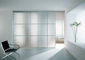 Porta interna con struttura in alluminio e vetro temperato - Vetro per porta interna ...