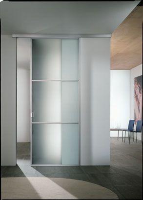 Porta scorrevole esterno muro in cristallo infix - Porta scorrevole esterna muro ...