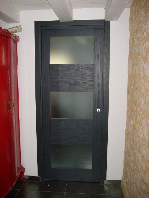 Porte interne in Frassino laccato poro aperto ral 7016
