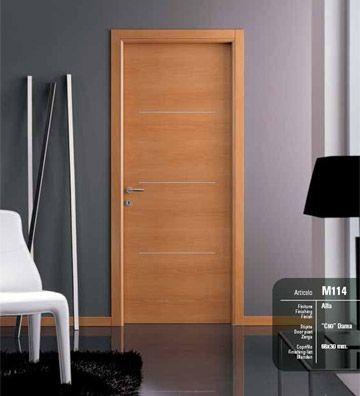Porte interne laminato noce art m114 alfa infix - Porte interne in pvc prezzi ...