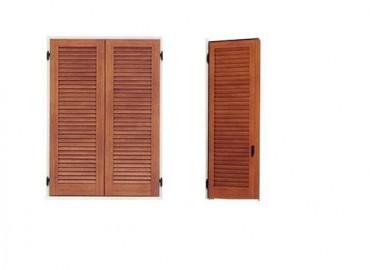 Persiana scuro modello legno o PVC  stecca chiusa tipo 4