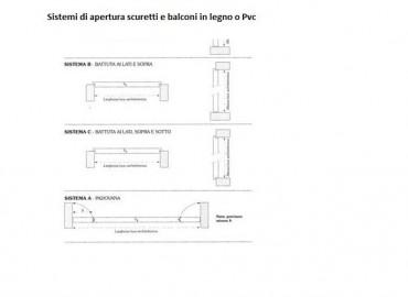 Sistemi di battuta  e chiusura scuri in legno ,pvc e alluminio