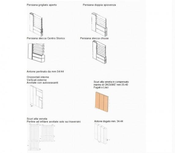 Persiane e scuri in legno, alluminio e PVC