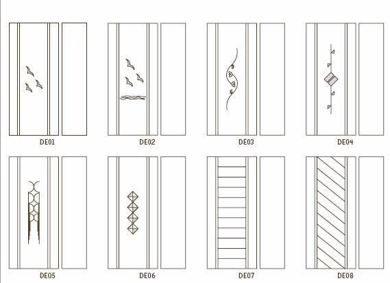 Rivestimento per porta blindata  pantografati mm 18 o Incisi