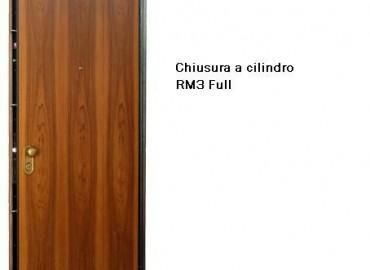 Porte blindate con chiusura a cilindro modello RM 3 full
