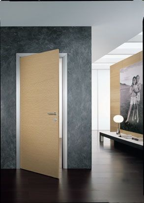 Porta interna a battente rovere sbiancato modello piana - Porta rovere sbiancato ...
