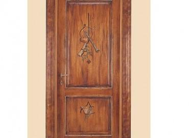 Porta interna in massello legno Toulipier   modello Donatello 1114/QQ/D-3