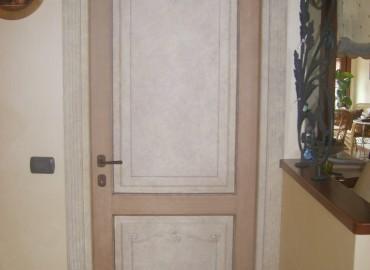 Porte interne in legno , fughe massello pantografato modello Tiziano 714/QQ/D-32