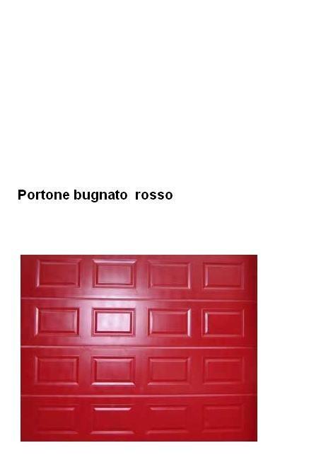 Portone sezionale con bugne colore  rosso