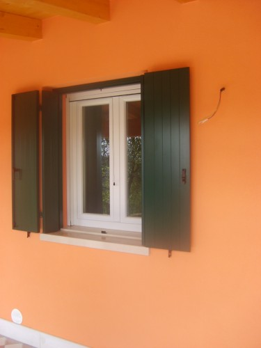 Persiana in Alluminio apetura alla Padovana modello veneta verde